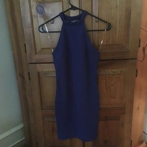 Royal blue choker mini dress